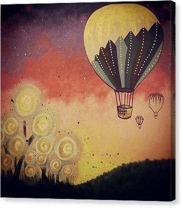 Up She Goes Canvas Print by Nina Giordano
