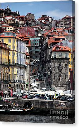 Up The Hill In Porto Canvas Print