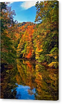 Up The Lazy River Painted Canvas Print by Steve Harrington
