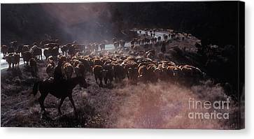 Up The Road Canvas Print by Jerry McElroy