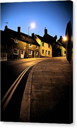 Canvas Print featuring the photograph Up The Road by Stewart Scott