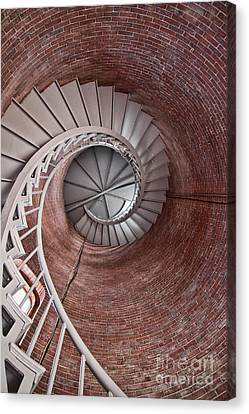 Up Through The Spiral Staircase Canvas Print by K Hines