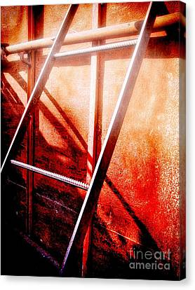 Metallic Sheets Canvas Print - Up To The Sky by GabeZ Art