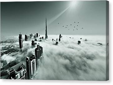 Khalifa Canvas Print - Up Up And Above by