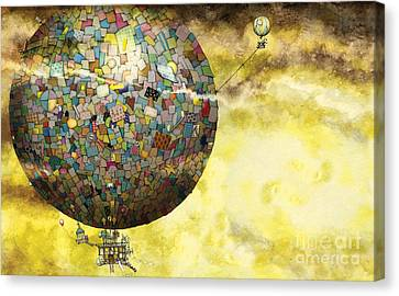 Up Up And Away Canvas Print by Colin Thompson