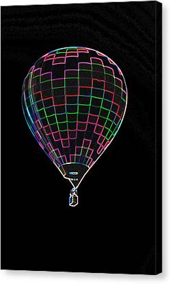 Up Up And Away In Neon Canvas Print