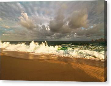 Canvas Print featuring the photograph Upcoming Tropical Storm by Eti Reid