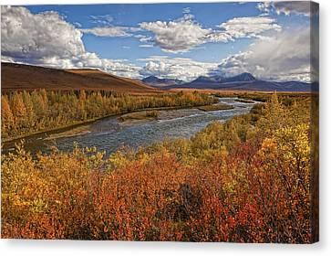 Upper Blackstone River Flowing North Canvas Print