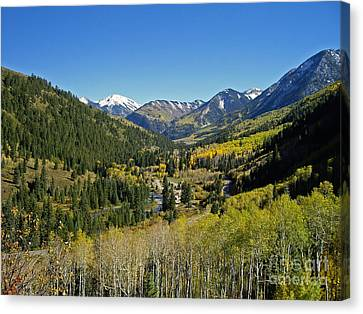 Canvas Print featuring the photograph Upper Crystal River Valley by Eric Rundle