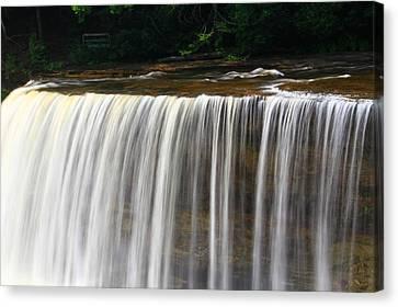 Upper Falls At Tahquamenon Falls State Park Canvas Print by Dan Sproul