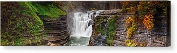Upper Falls Wide Canvas Print by Peter Chilelli