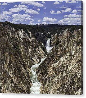 Lower Falls Of Yellowstone River Canvas Print