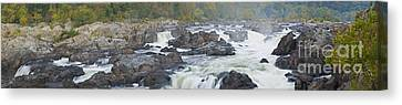 Upper Great Falls Panorama Canvas Print by Benjamin Reed