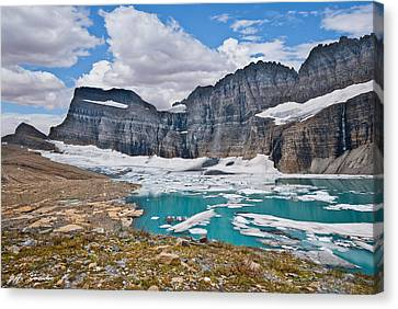 Upper Grinnell Lake And Glacier Canvas Print