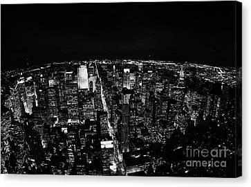 Upper Manhattan Night New York City Skyline Cityscape View  Canvas Print by Joe Fox