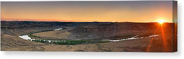 Upper Missouri Panoramic Canvas Print by Leland D Howard