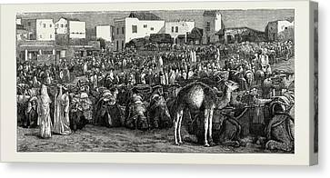 Moroccan Canvas Print - Upper Soko Or Market Place, Tangier, Morocco by Litz Collection
