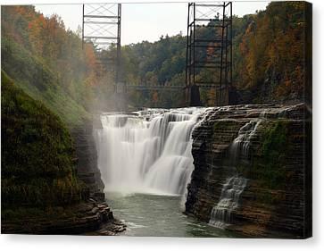 Upper Waterfalls Canvas Print by David Simons