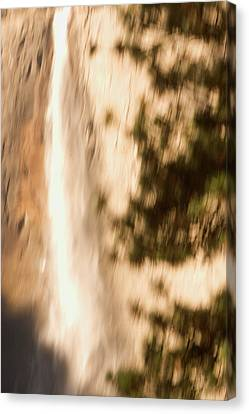 Abstract Water Fall Canvas Print - Upper Yosemite Fall In Yosemite Valley by Phil Schermeister