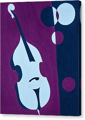 Upright Jazz Canvas Print by Brian Broadway