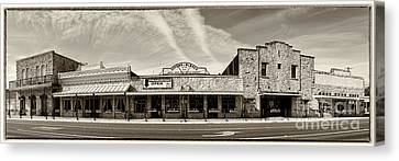 Uptown Blanco Panorama In The Texas Hill Country Canvas Print by Silvio Ligutti