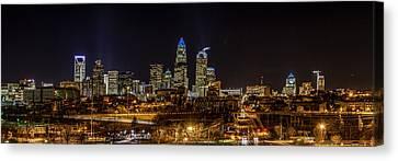 Uptown Charlotte Panorama Canvas Print