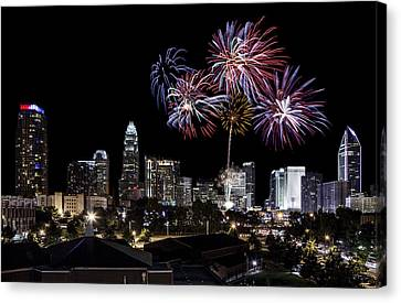 Uptown Fireworks 2014 Canvas Print by Chris Austin