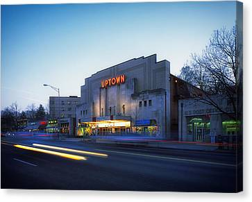 Uptown Theatre In Washington Dc Canvas Print by Mountain Dreams