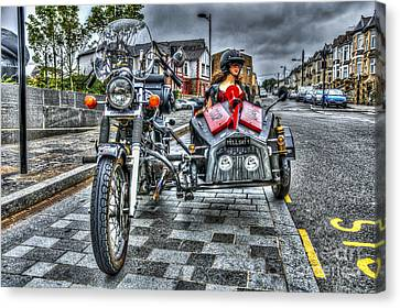 Ural Wolf 750 And Sidecar Canvas Print by Steve Purnell