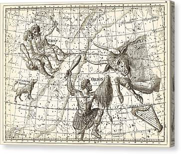 Uranographia Constellations, 1801 Canvas Print by Science Photo Library