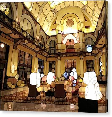 Urban Abstract Hotel Lobby Canvas Print by Dan Sproul