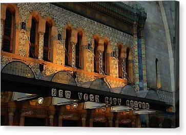 Urban Abstract New York City Center Canvas Print by Dan Sproul
