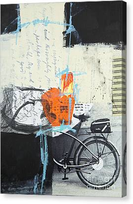 Urban Bicycle Canvas Print by Elena Nosyreva