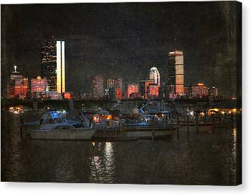 Urban Boston Skyline Canvas Print by Joann Vitali