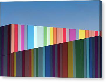 Abstract Building Canvas Print - Urban Candy by Gregory Evans