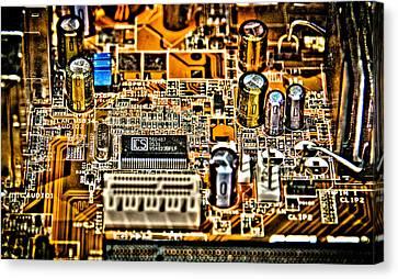 Urban Chipset Canvas Print by Alex Hiemstra