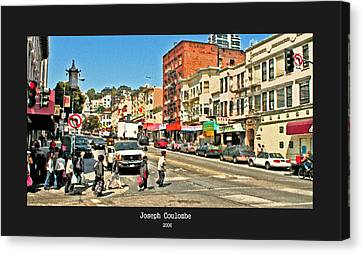 Urban Cross Walks Canvas Print by Joseph Coulombe