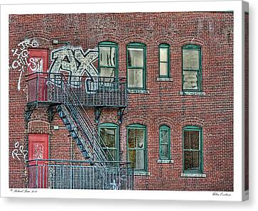 Canvas Print featuring the photograph Urban Existence by Richard Bean