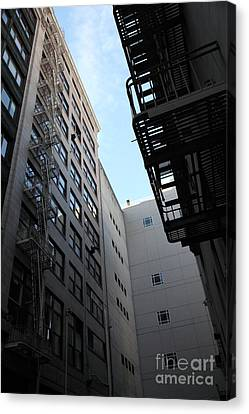 Fire Escape Canvas Print - Urban Fabric - Fire Escape Stairs - 5d20541 by Wingsdomain Art and Photography