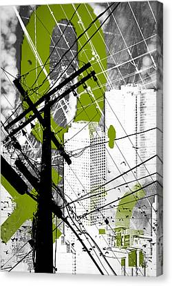 Urban Grunge Green Canvas Print by Melissa Smith