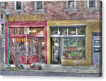 Urban Mercyseat Oil Painting Canvas Print by Liane Wright