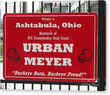 Urban Meyer Canvas Print by Michael Krek