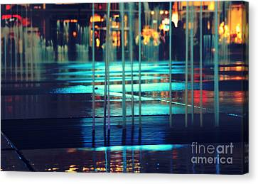 Urban Night Life Canvas Print