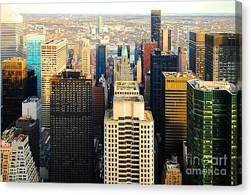 Urban Ocean New York City Usa Canvas Print by Sabine Jacobs