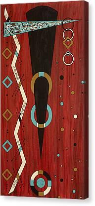Urban Petroglyph Series Number 7 Canvas Print by Debra Jacobson
