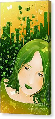 Urban Rosebudd Canvas Print