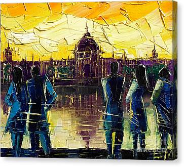 Urban Story - Hotel-dieu De Lyon Canvas Print