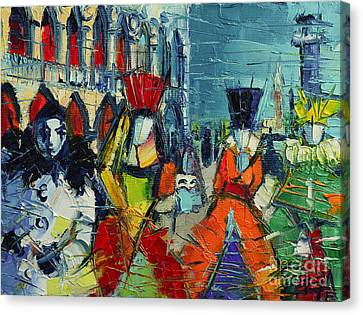 Urban Story - The Carnival Canvas Print by Mona Edulesco