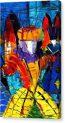 Urban Story The Venice Carnival 2 Painting Detail Canvas Print by Mona Edulesco