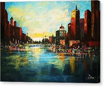 Urban Sunset Canvas Print by Al Brown
